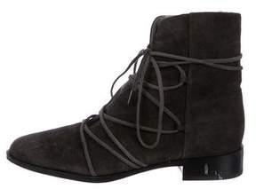 Diane von Furstenberg Suede Pointed-Toe Ankle Boots
