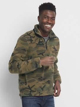 Gap Sherpa half-zip sweater
