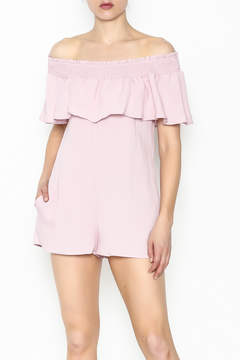 Cotton Candy Off The Shoudler Romper