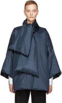Jil Sander Navy Silk Down Drone Jacket