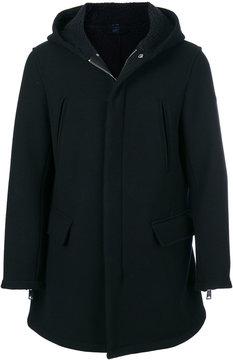 Armani Jeans flap pocket hooded coat