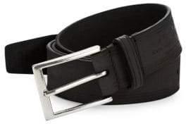 John Varvatos Trimmed Leather Belt