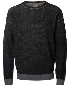 Selected Men's Black Viscose Sweater.