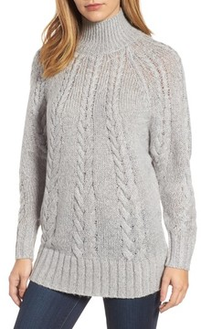 Caslon Women's Dolman Sleeve Cable Knit Tunic