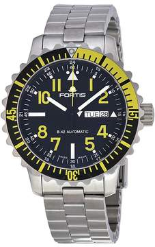 Fortis Marinemaster Black Dial Stainless Steel Men's Watch 6702414M