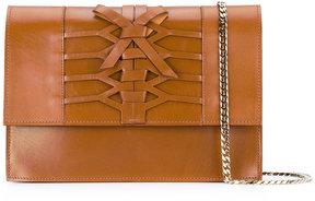 Casadei lattice detail shoulder bag