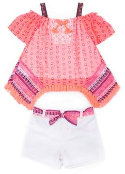 Little Lass Baby Girl Smocked Top & Short Set