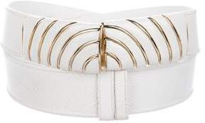 Judith Leiber Leather Embossed Belt