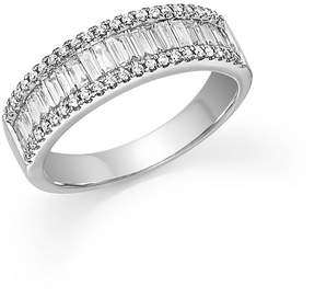 Bloomingdale's Round and Baguette Diamond Band in 14K White Gold, .75 ct. t.w. - 100% Exclusive