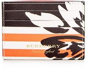 Burberry Patchwork Floral Sandon Leather Card Case