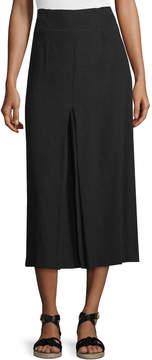 Apiece Apart Obsidian Inverted-Pleat Midi Skirt