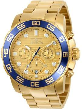 Invicta Pro Diver 22227 Gold Stainless Steel Analog Quartz Men's Watch
