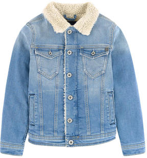 Pepe Jeans Jean jacket with a faux fur lining