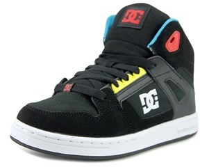 DC Rebound Round Toe Leather Skate Shoe.
