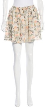 Band Of Outsiders Floral Print Silk Skirt w/ Tags