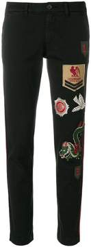 P.A.R.O.S.H. patchwork skinny trousers