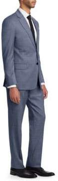 Armani Collezioni G Line Microcheck Wool Suit