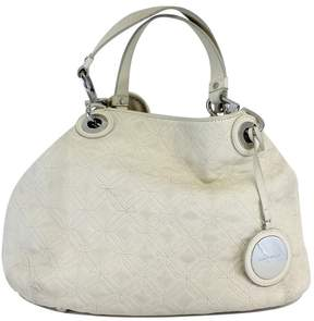 Karen Millen Ivory Quilted Leather Bag