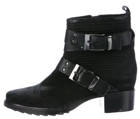 Rachel Zoe Quilted Nubuck Ankle Boots