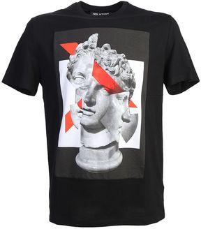Neil Barrett Geometric Sculpture Printed Cotton T-shirt