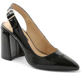 Kensie Tiffanie Point-Toe Leather Pumps