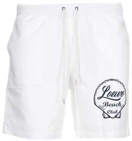 Loewe Men's White Polyester Trunks.