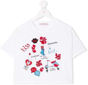 Miss Blumarine love print T-shirt