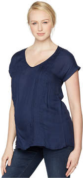 A Pea in the Pod Maternity V-Neck Pleated Blouse