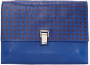 Proenza Schouler Blue Leather Clutch Bag