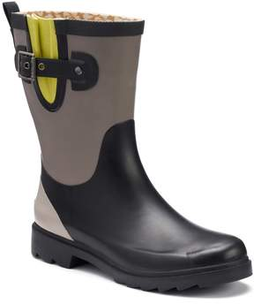 Chooka Women's Colorblock Waterproof Rain Boots