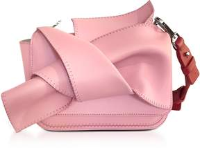 N°21 Small Pink Leather Bow Shoulder Bag w/Red Leather Shoulder Strap