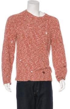 Marc Jacobs Distressed Crew Neck Sweater