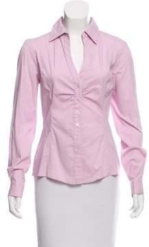 Tahari Long Sleeve Button-Up