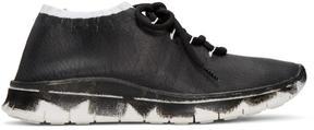 Maison Margiela Black Painted Knit Sneakers
