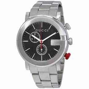 Gucci G Chronograph Black Dial Men's Watch YA101361