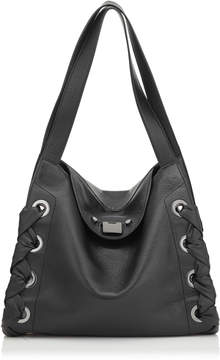 Jimmy Choo RION/S Black Grainy Soft Leather Tote Bag