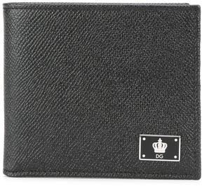 Dolce & Gabbana crown logo plaque billfold wallet