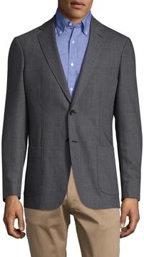 Gant Men's Oxford Wool Notch Lapel Blazer