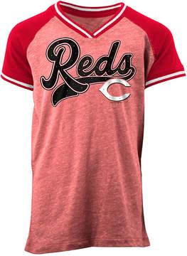 5th & Ocean Cincinnati Reds Rhinestone Script T-Shirt, Girls (4-16)