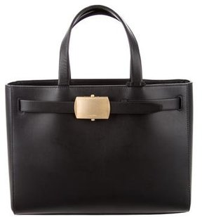 Calvin Klein Collection Leather Buckle Tote