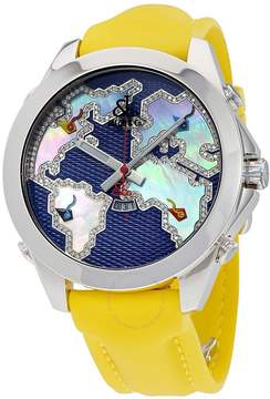 Jacob & co Jacob and Company Five Time Zone Diamond Accented Blue Dial Men's Watch