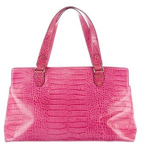 Kate Spade Embossed Leather Tote - PINK - STYLE