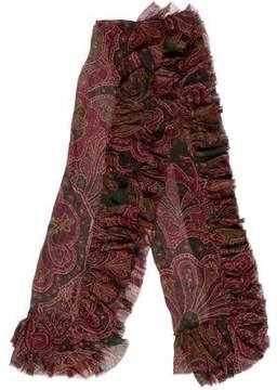 Ralph Lauren Ruffled Silk Scarf