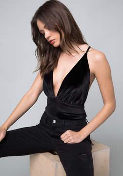 Bebe Cara Velvet Bodysuit