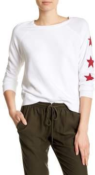 David Lerner Star Print Knit Pullover