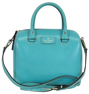 Kate Spade Blue Leather Satchel - BLUE - STYLE