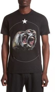 Men's Givenchy Cuban Fit Monkey Brothers Graphic T-Shirt