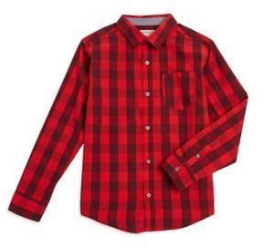 Calvin Klein Jeans Boy's Checkered Button-Down Shirt