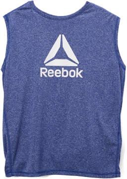 Reebok Dark Blue 'Reebok' Marled Tank - Boys
