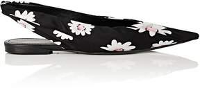 Balenciaga Women's Knife Satin Slingback Flats